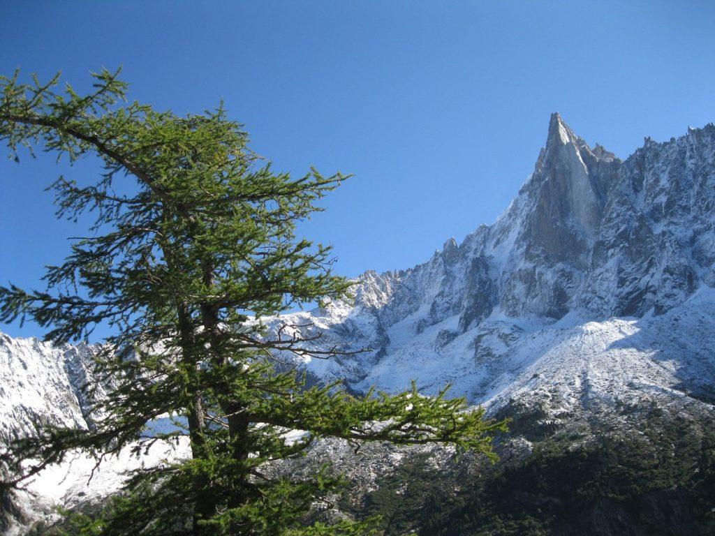 Les Drus - boucle des Tines - randonnée raquettes pays du mont blanc