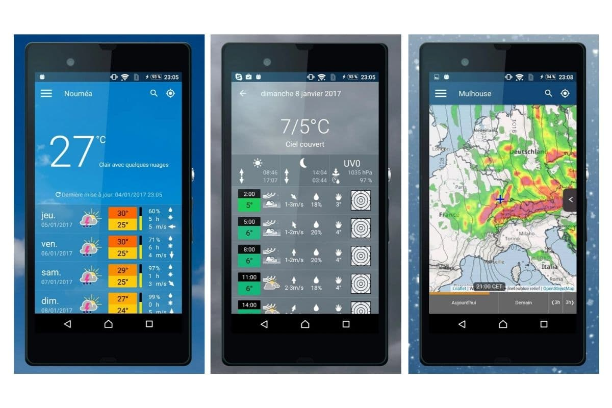 Meteoblue - application mobile