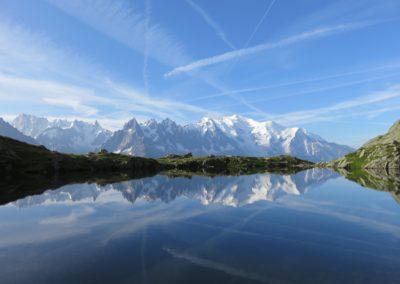 Reflets du massif du Mont Blanc