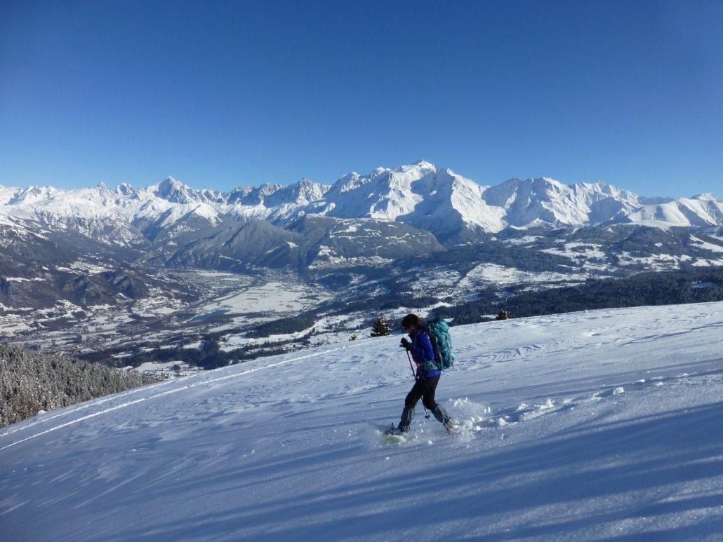 Vallée de l'Arve - plateau de Mayères - randonnée raquettes pays du mont blanc