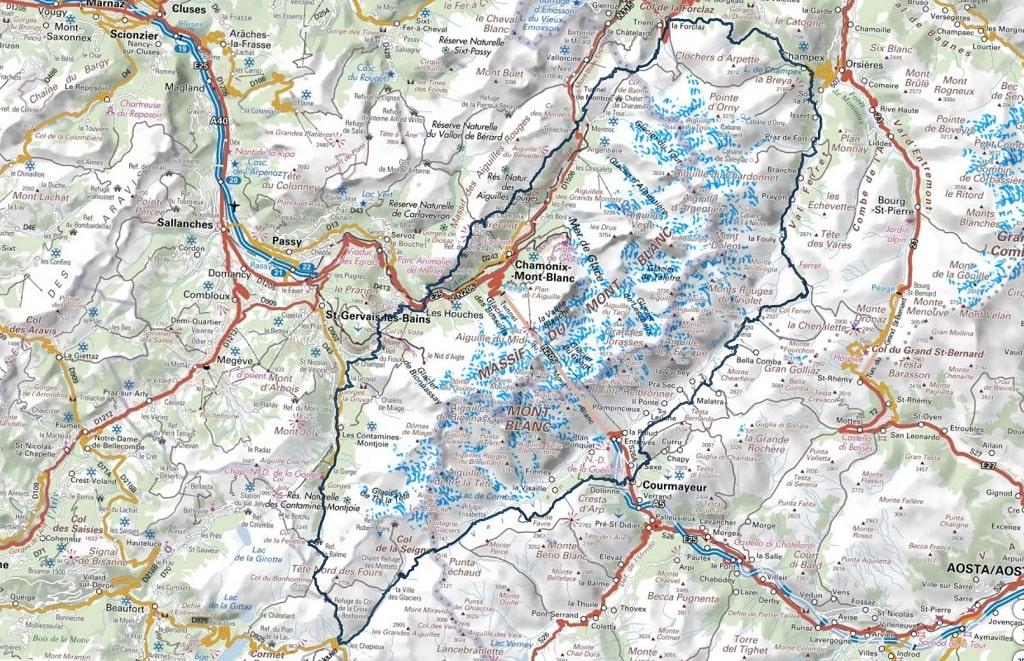 itinéraire tour du mont blanc intégral 10 jours