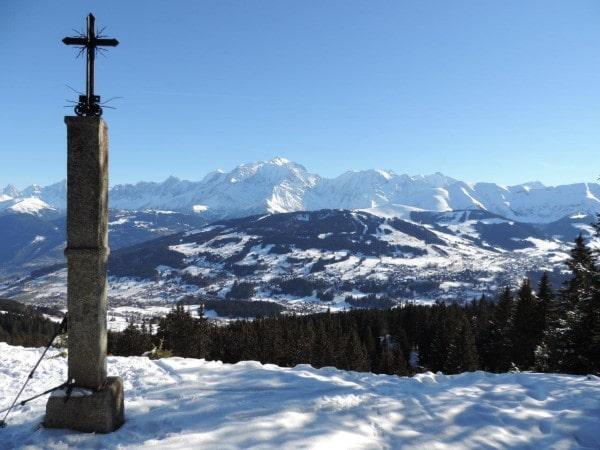 la croix de salles - randonnée raquettes pays du mont blanc