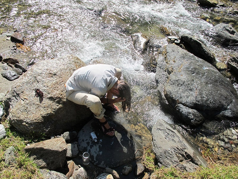 se laver en randonnée et en trek
